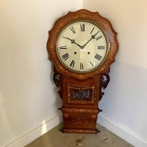 Impressive American Drop Dial Wall Clock (1 of 1)