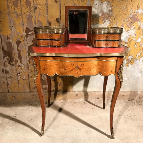 French Kingwood & Marquetry Dressing Table c.1900 (1 of 1)