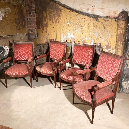 Rare Set of Four French Armchairs C.1900 (1 of 1)