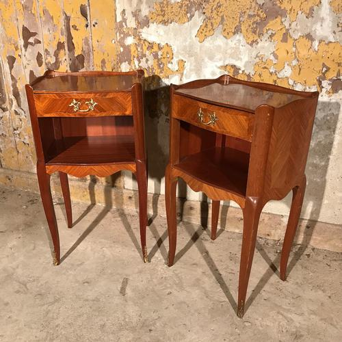 Pair of French Bedside Tables c.1920 (1 of 1)