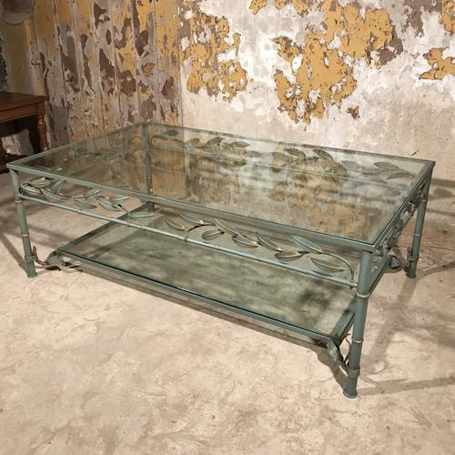 Vintage French Coffee Table in Glass & Metal (1 of 1)