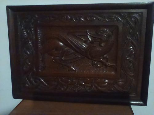 Arts and Crafts Carved Panel / Wall Hanging (1 of 2)