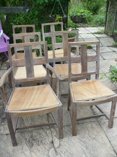 Heals Set of Limed Oak Chairs (1 of 1)