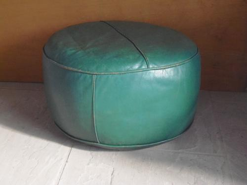 Leather Pouffe c.1950 (1 of 1)