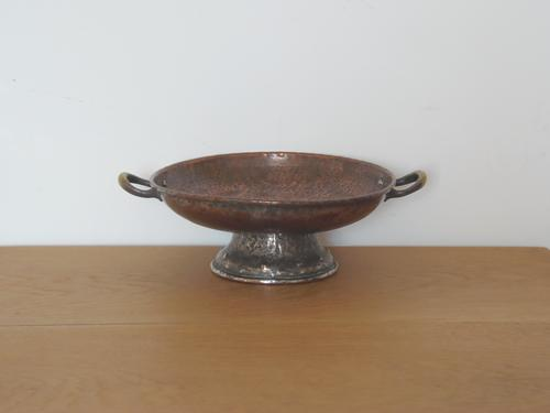 Arts & Crafts Beaten Copper Tazza / Bowl (1 of 1)
