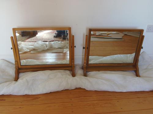 Edward Barnsley Oak Swing Mirror (1 of 1)