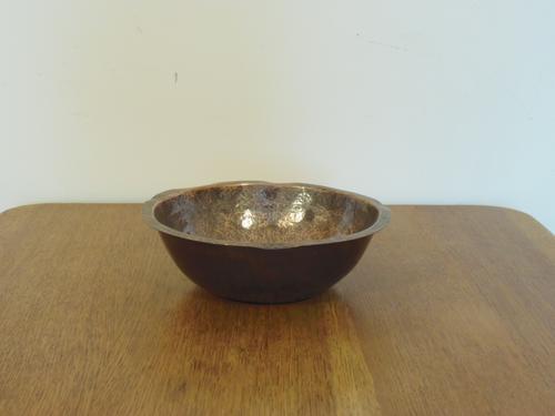 Arts & Crafts Beaten Copper Bowl (1 of 4)