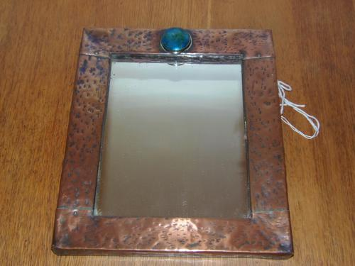Arts & Crafts Beaten Copper Mirror, Probably Liberty & Co of London (1 of 1)