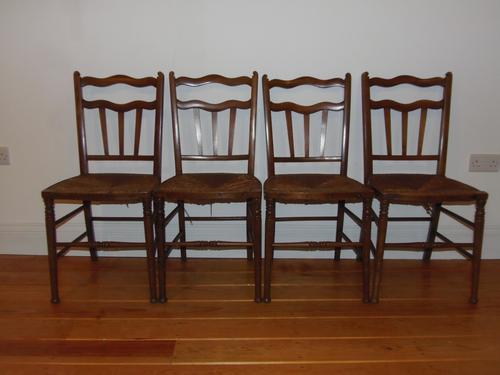 Arts & Crafts Set of Four Dining Chairs Possibly by William Birch (1 of 1)