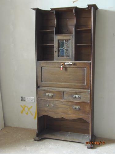 E.A.Taylor For Wylie & Lochhead Oak Secretaire Bookcase (1 of 9)