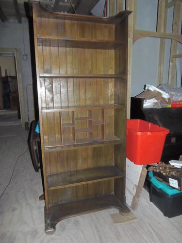 E.A.Taylor For Wylie & Lochhead Oak Secretaire Bookcase (1 of 2)