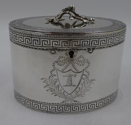 Antique George III Silver Tea Caddy. London 1774 (1 of 12)