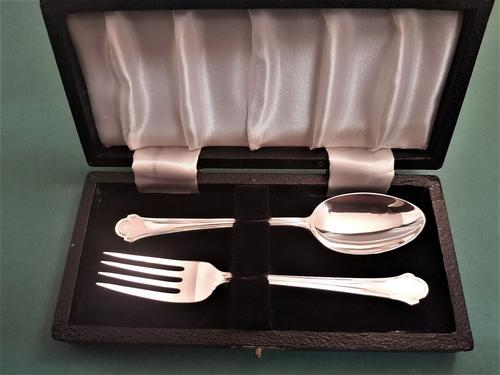 Lovely Silver Child's Fork & Spoon Set (1 of 1)