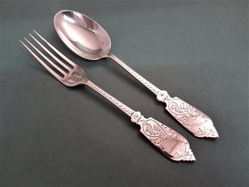 Lovely Antique Victorian Silver Child's Cutlery Set (1 of 1)
