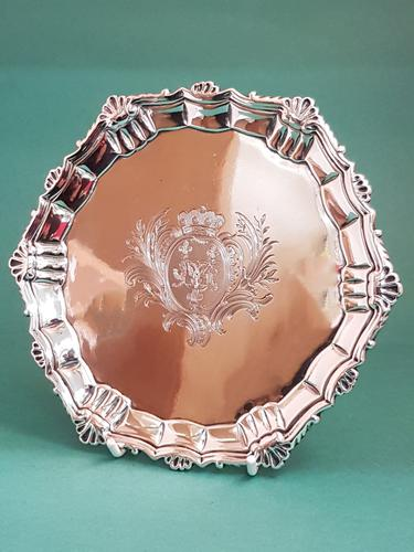 Very Attractive Antique George II Silver Salver (1 of 1)