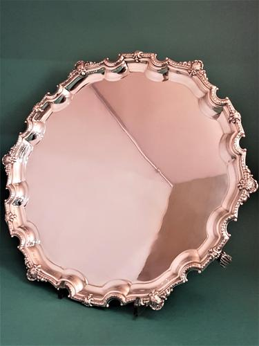 Lovely Quality Large Silver Salver (1 of 1)