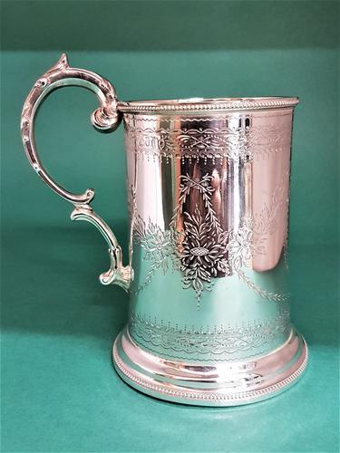 Good Quality Antique Victorian Silver Pint Mug (1 of 1)