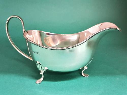 Plain Silver Sauce Boat (1 of 1)