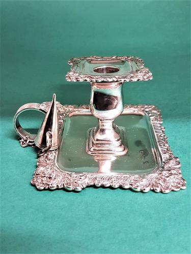Delightful Small Antique Edwardian Silver Chamberstick (1 of 1)
