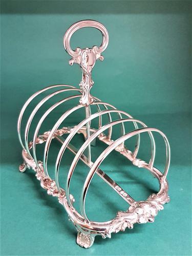 Beautiful Large Decorative Antique Victorian Silver Toast Rack (1 of 1)