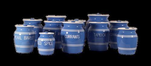 Blue Storage Jars (1 of 4)