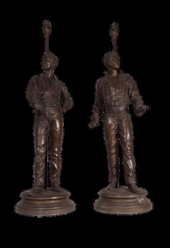 Spelter Figure Lamps (1 of 4)