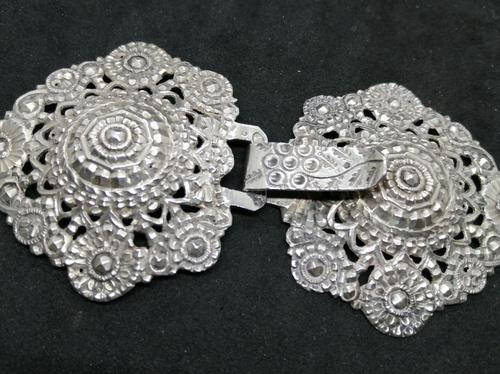 French Silver Buckle (1 of 4)