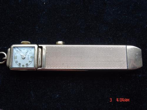 Rare Sampson Mordan 9ct Gold Combination Pencil & Watch (1 of 1)