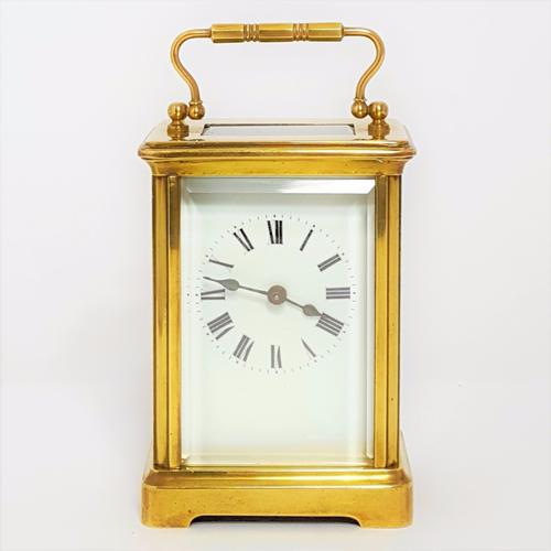 French Brass Corniche Cased Carriage Clock C.1900 (1 of 1)