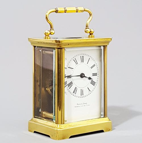 Antique French Brass Corniche Cased Carriage Clock Reid & Sons, Newcastle C.1890 (1 of 1)