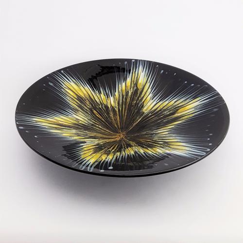 Large French Majolica Centrepiece Bowl. Grès Flammé Du Morvan C.1960 (1 of 1)