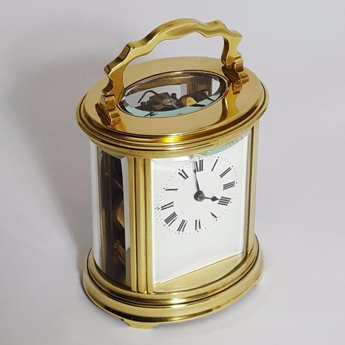 French Oval Brass Striking Carriage Clock C.1895 (1 of 1)