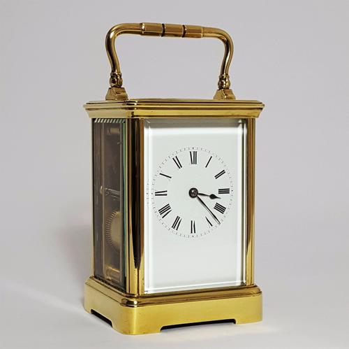 French Brass Corniche Cased Striking Carriage Clock by Richard Et Cie C.1880 (1 of 1)