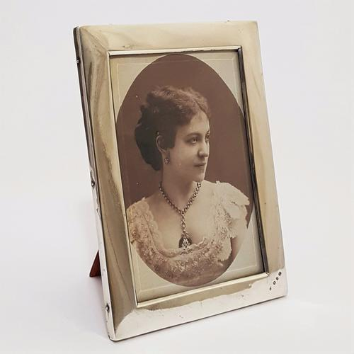 Silver Rectangular Easel Photo Frame Birmingham 1898 (1 of 1)