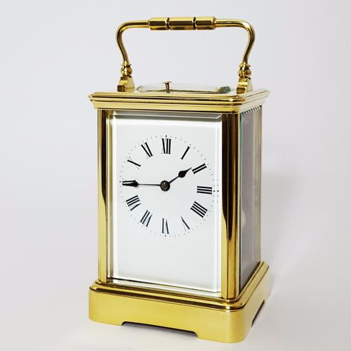 French Brass Corniche Cased Striking Repeating Carriage Clock C.1900 (1 of 11)