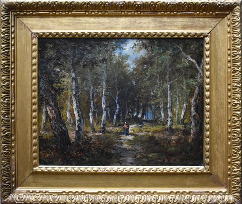 Paolo Manzoni Barbizon School Landscape c.1880 (1 of 10)