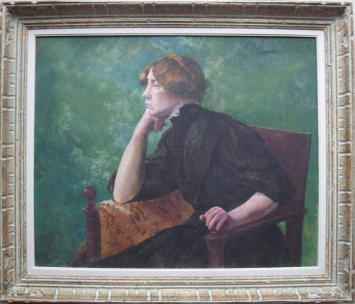 French School Impressionist Portrait Intriguing Provenance c.1895 (1 of 1)