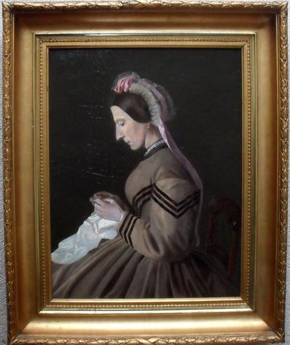 Minna Krag 19th Century Danish Oil Painting (1 of 1)
