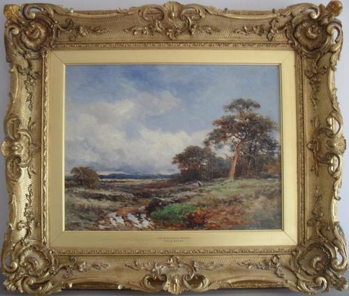 David Bates on Rannoch Moor 1911 Oil Painting (1 of 1)