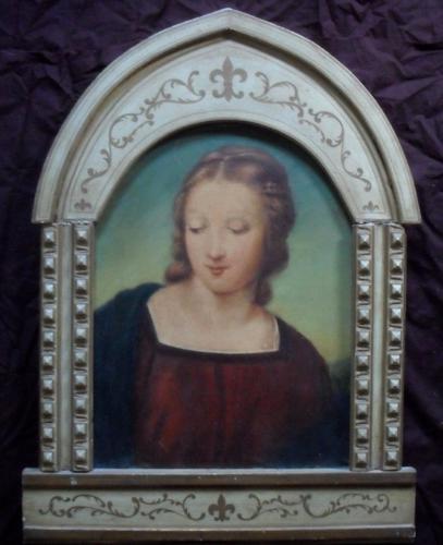 Italian School 19th Century Portrait of a Saint Oil Painting (1 of 1)