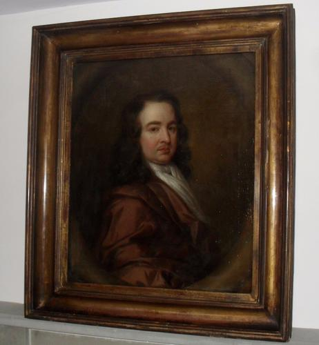 English School Portrait, Circle of Mary Beale Oil Painting c.1690 (1 of 1)