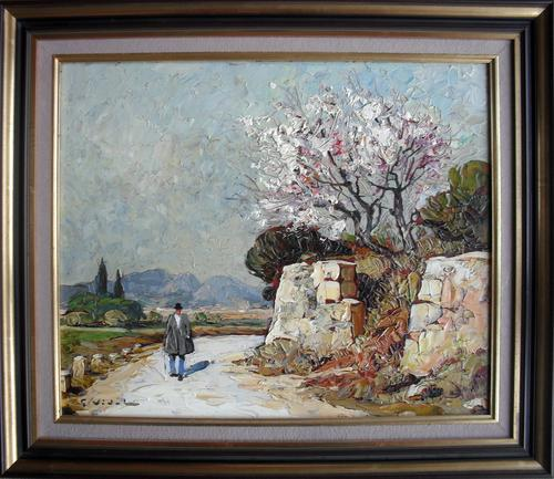 "Gustave Vidal French Post Impressionist ""Provence"" Oil Painting (1 of 1)"