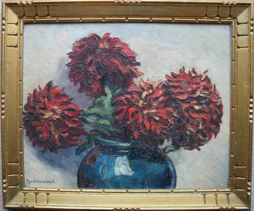 Roger Ambroise Lafont French School Art Deco Oil Painting (1 of 1)