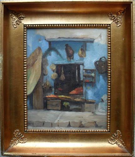 Circle of Reymann French Oriental School Casa Porte Neuve 1884 Oil Painting (1 of 1)