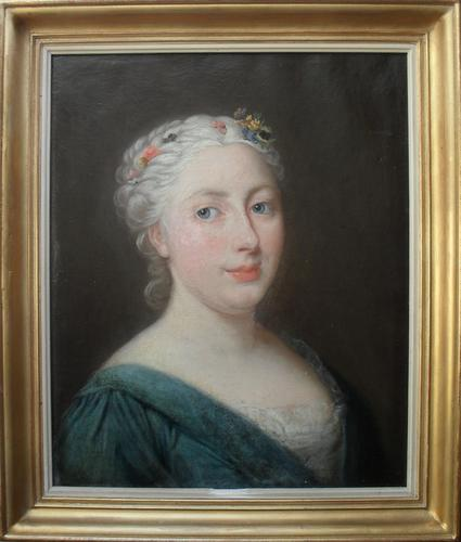 French School Portrait Oil Painting c.1780 (1 of 1)