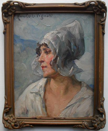 Léonie Humbert-Vignot Breton Woman Oil Painting (1 of 1)