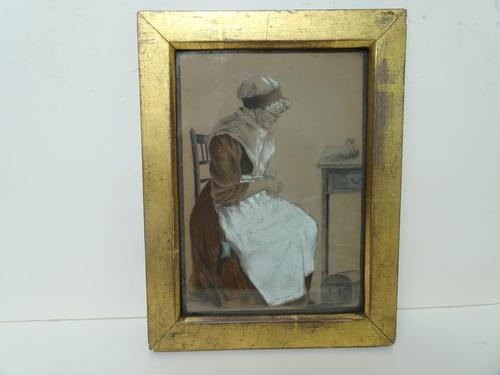 S.S Kerr. Antique Original Chalk & Pencil Portrait c.1821 (1 of 11)