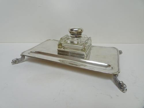 Silver Inkstand. Chester 1911. Horace George Croneen. George V (1 of 10)
