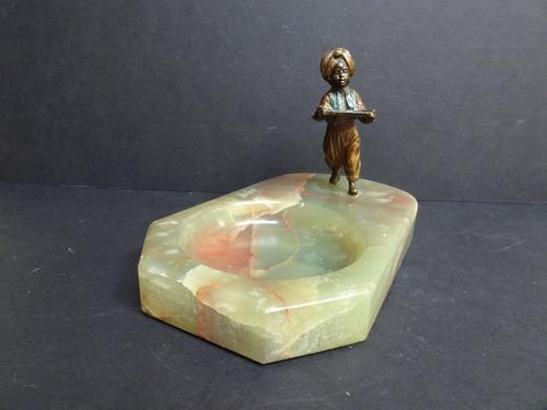 Cold Painted Bronze Figure on Onyx Base. 1930s Art Deco (1 of 10)