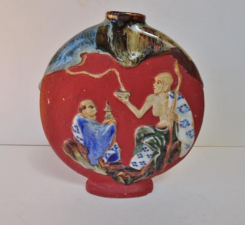 Sumida Gawa Moon Flask. Early 20th Century. Japanese (1 of 12)